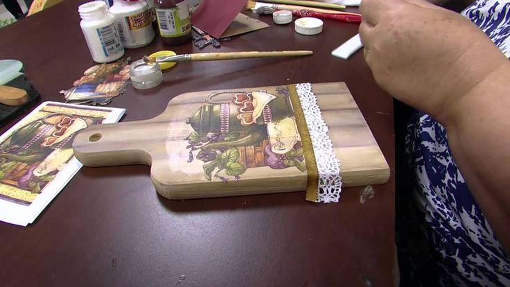 Mulher.com - 02/09/2015 - Decoupage com pintura imitando madeira - Rose...