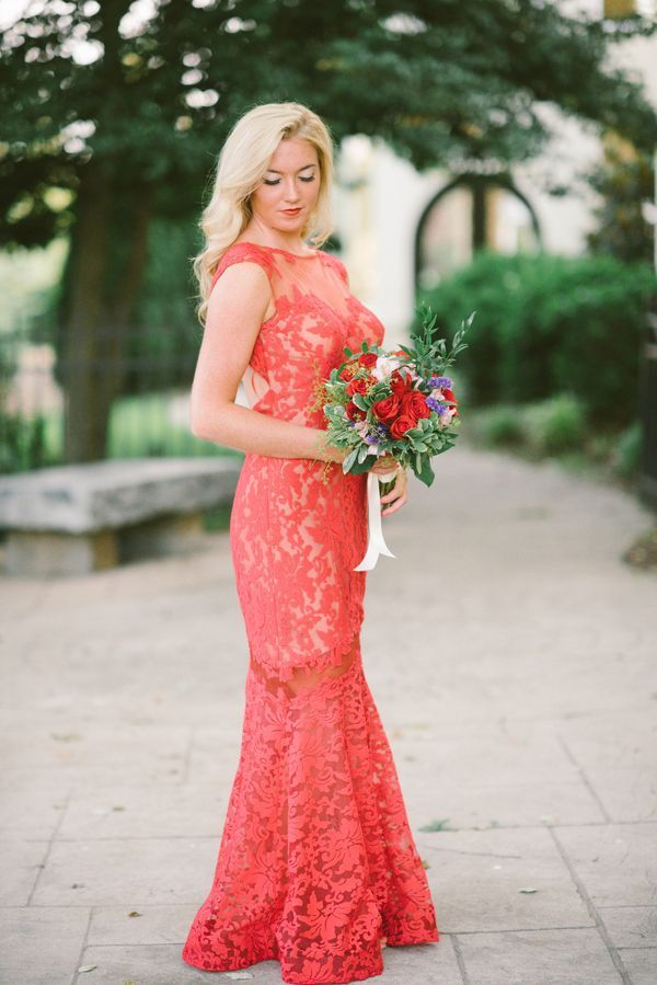 Red lace gown   Photo by Ashlee Mintz