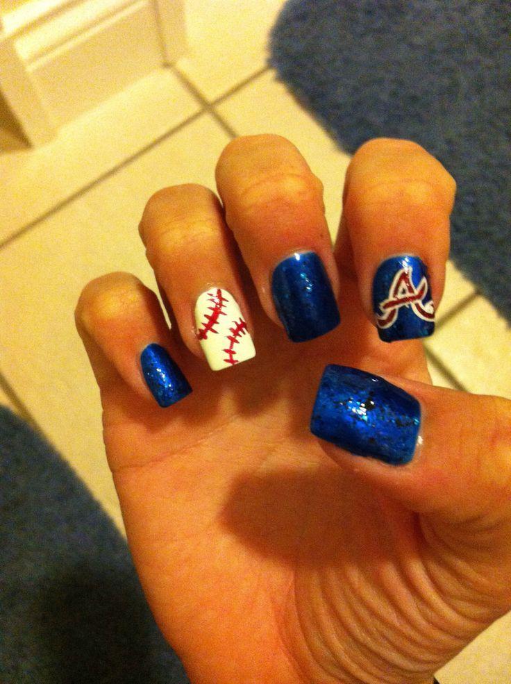555 best sports nails images on pinterest baseball nail designs nice atlanta braves nails toe nailsnail nailbraves baseballbaseball nailsnail art prinsesfo Gallery