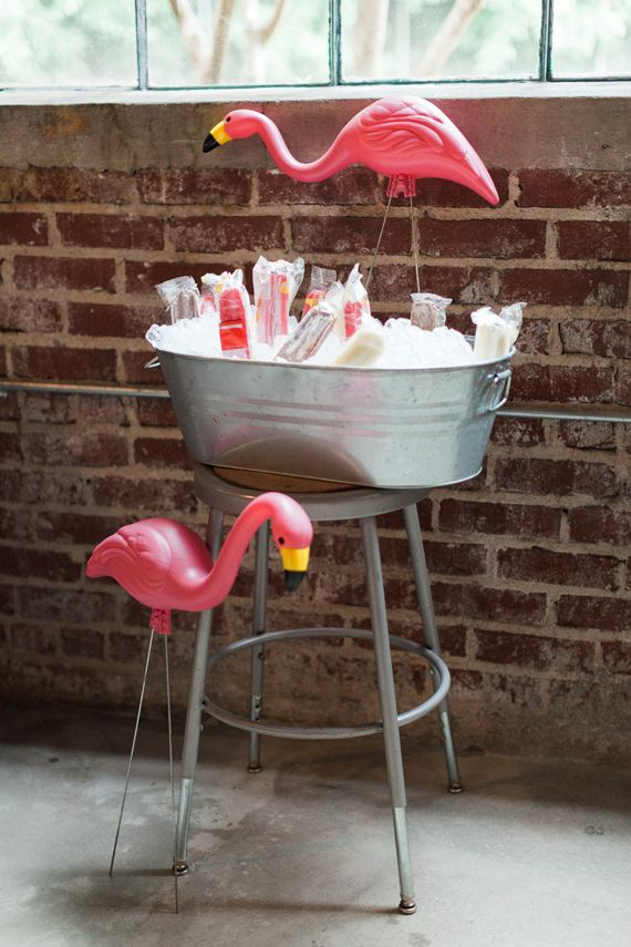 """At you next party, hire  flamingos to guard """" The Goods"""""""