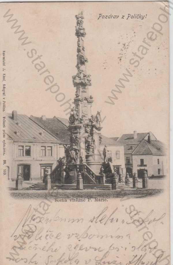 - Polička Svitavy socha P.Marie foto J.KLESL 1899