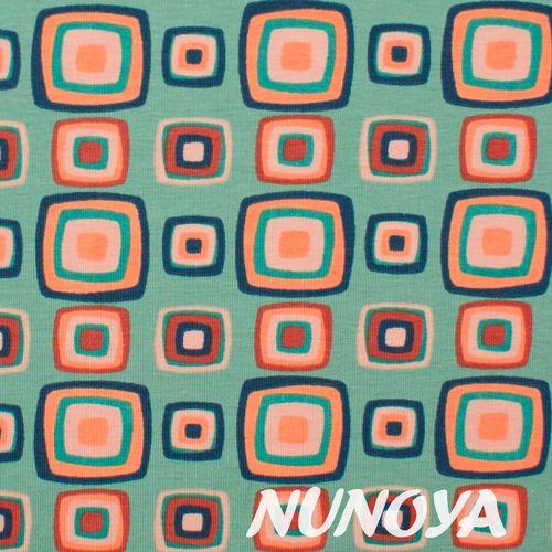Stenzo Textiles: Retro squares - pink