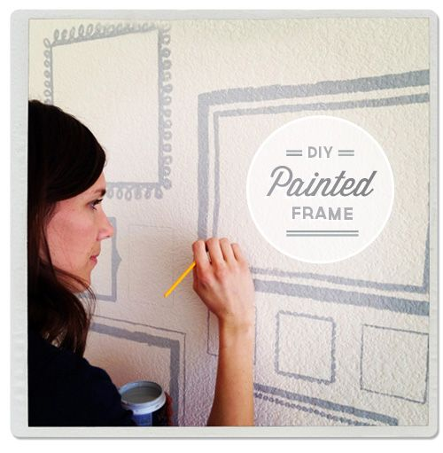 Painted WallFrames...I did this in a stairway leading to the basement and loved it!  Great way to make the space more inviting and a lot of charm.