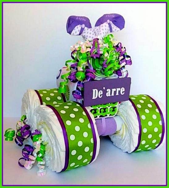 how to make a 4 wheeler diaper cake instructions
