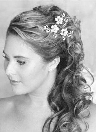 wedding hair half up: Hair Ideas, Hair Styles, Wedding Ideas, Wedding Stuff, Dream Wedding, Beauty, Half Updo, Wedding Hairstyles, Flower