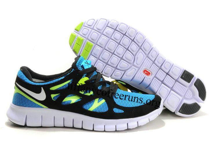 49ec10d70271c ... Womens Blue Glow White Black Volt Nike Free Run 2 Shoes under 50.00 ...