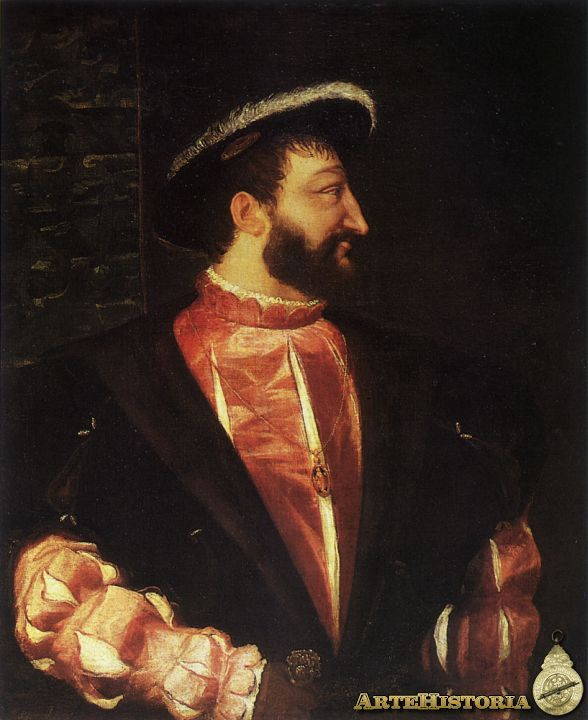 Francisco I de Francia Tiziano Museo de Louvre