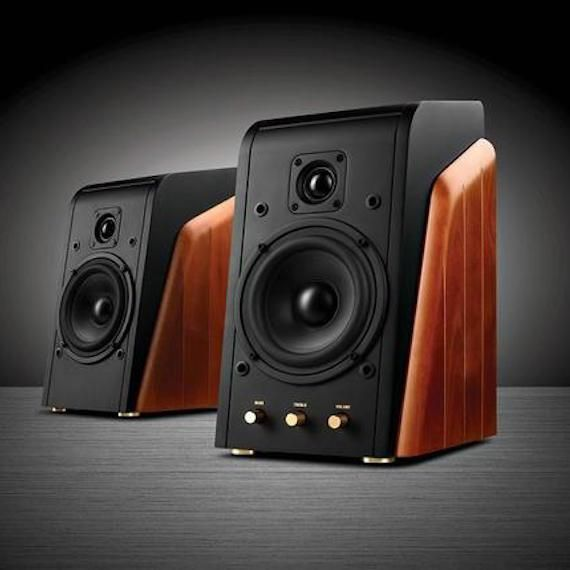 These compact, yet powerful speakers are perfect for your desk, or will fill your living space with full and detailed sound.