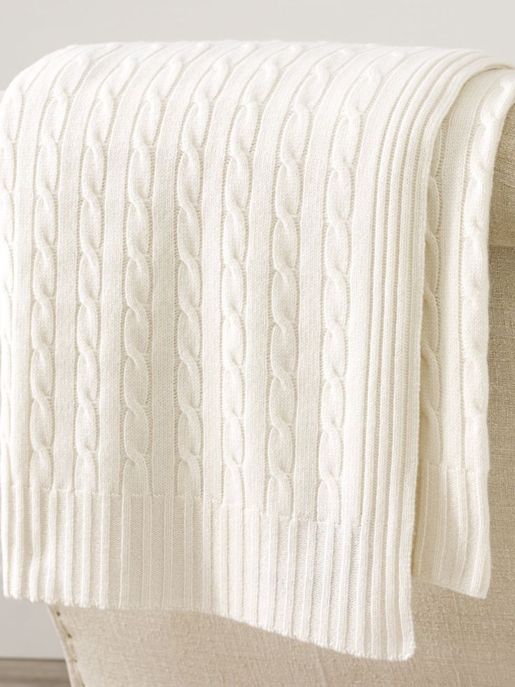 Cabled Cashmere Throw Blanket - Throws  Home - RalphLauren.com
