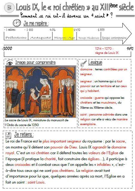"""[Histoire CM] Louis IX, le """"roi chrétien"""" au XIIIème siècle"""