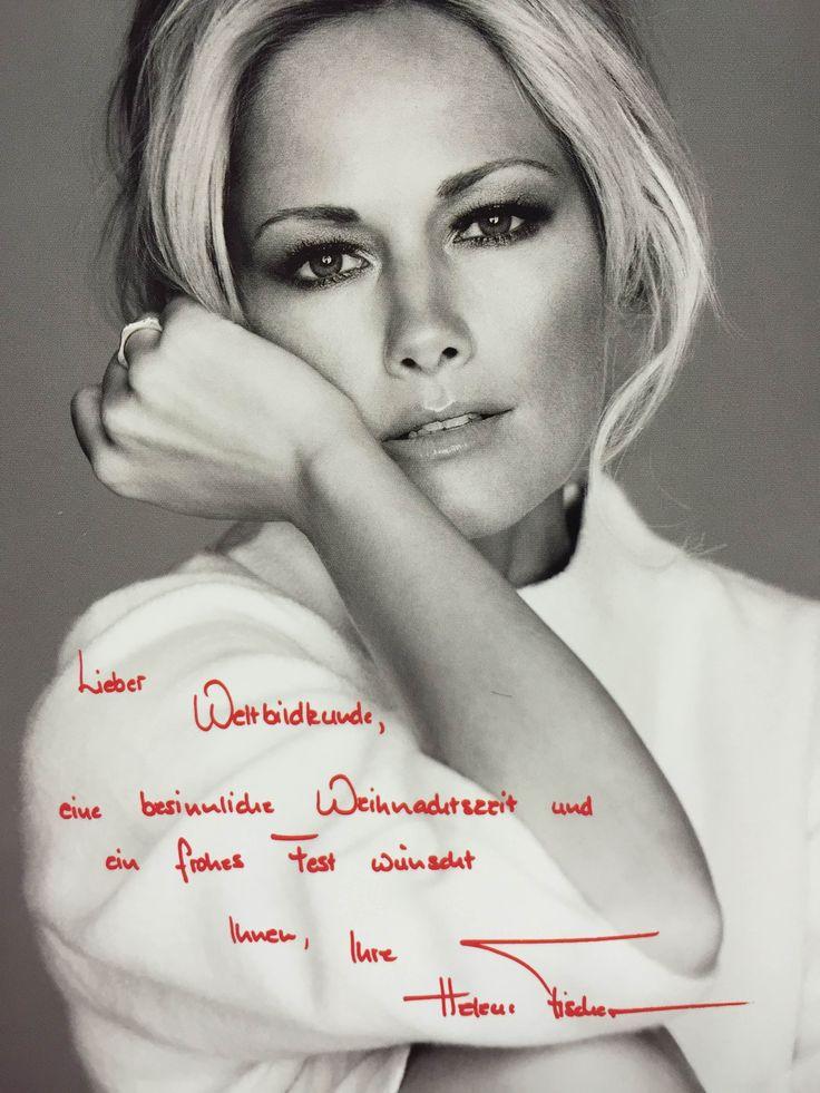 Autogrammkarte für Weltbild-Kunden von Helene Fischer