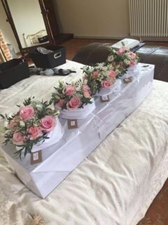 Brides made flowers Pink gold black white
