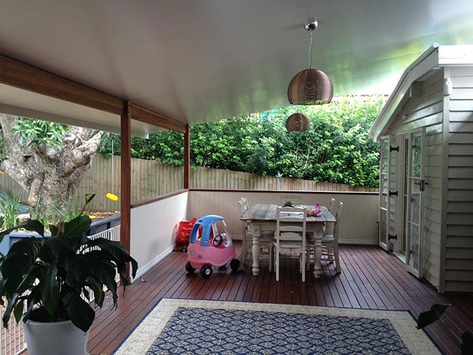 It's a good time to get outside and give your carport, deck, patio, verandah or pergola a bit of tender loving care.