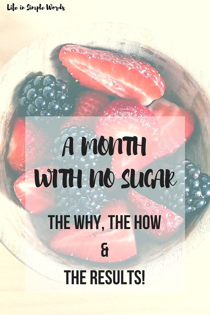 A Month With No Sugar - The Why, The How and the Results! | Life in Simple Words