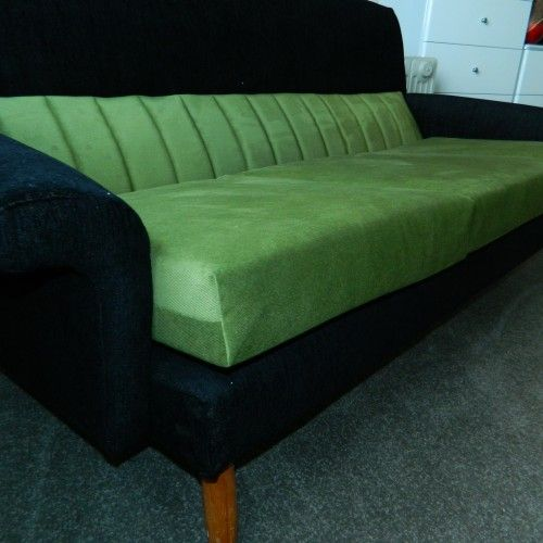 Green & Black Couch
