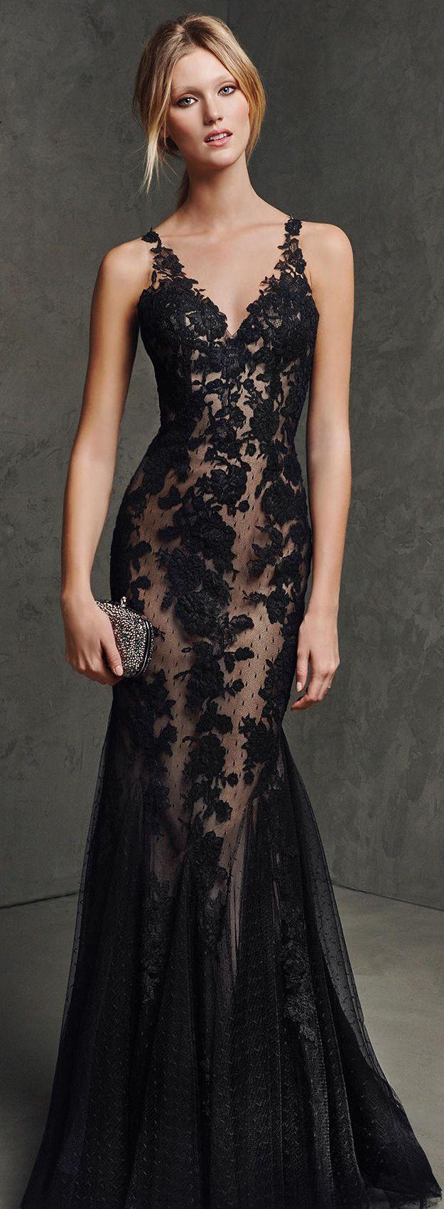 Best 20  Long black lace dress ideas on Pinterest