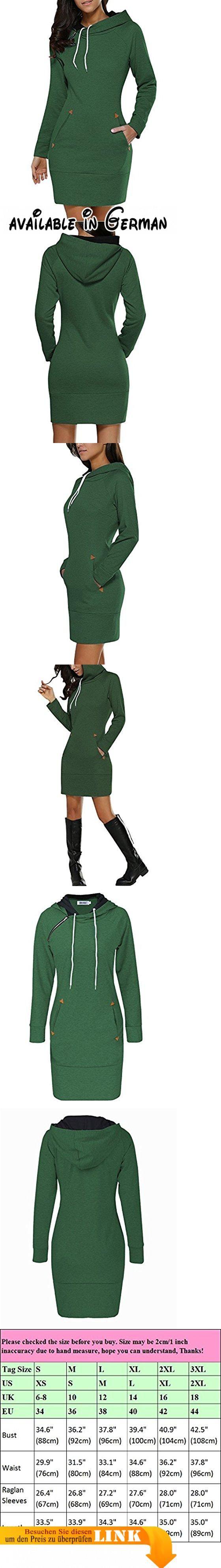 BIUBIU Damen Mode Hoodie mit Zip Langarm Pullover Jumper Pulli Sweatshirt Jumper Grün DE 42.  #Apparel #OUTERWEAR
