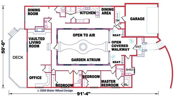 Google image result for for Homes with atriums floor plans