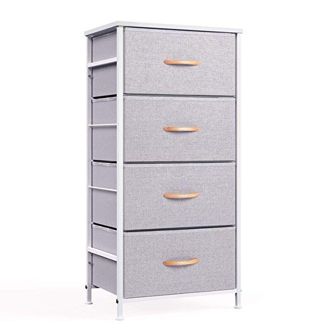 Amazon Com Wehome 4 Drawer Fabric Dresser Storage Tower Organizer Unit For Bedroom Closet Entryway Hallway Storage Towers Fabric Dresser Dresser Storage