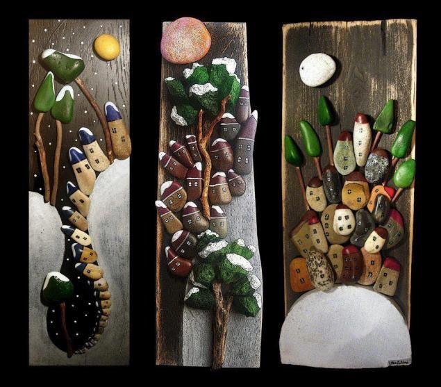 Красота и простота работ в стиле Pebble Art. Обсуждение на LiveInternet - Российский Сервис Онлайн-Дневников