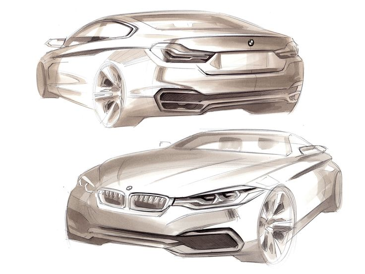 BMW 4 Series Coupe sketches