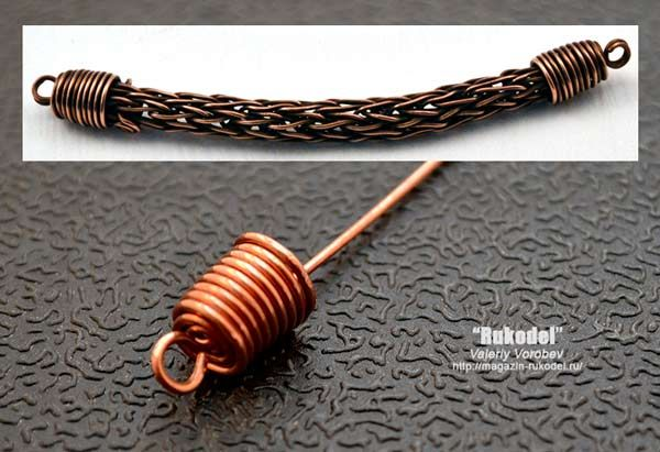 Caps of copper wire Концевики для бижутерии своими руками.