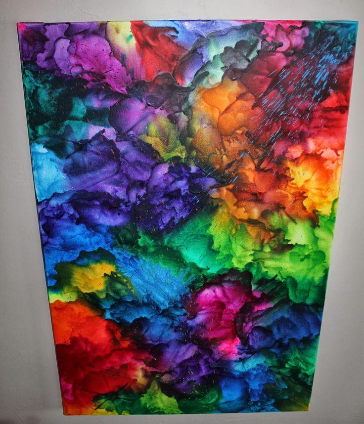 Best Pinterest Art: 25+ Best Ideas About Melted Crayon Canvas On Pinterest