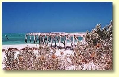 Eucla's old disused jetty has seen better days.