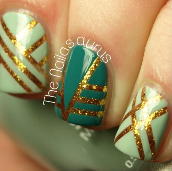 Mejores 75 o más imágenes de Tape Nail Art en Pinterest   Uñas ...
