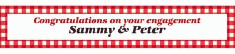 American Summer Red Gingham Custom Banner - Party City