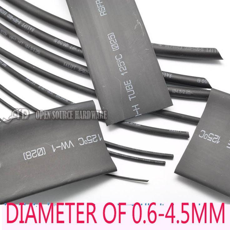 1 Meter Berkualitas Tinggi panas menyusut tabung diameter 0.6-4.5mm