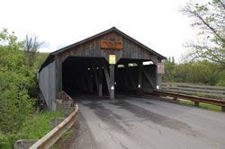 ~Pulp Mill Covered Bridge, Middlebury Vermont, built in 1820, restored in 1984, presently closed for restoration till mid 2012, the oldest covered bridge in Vermont~