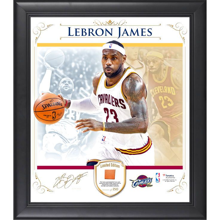 LeBron James Cleveland Cavaliers Fanatics Authentic Framed 15'' x 17'' Photo Collage with Team Used Basketball- Limited Edition of 250 - $89.99