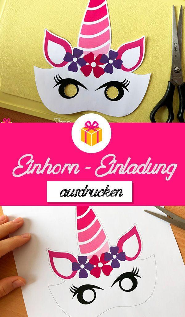 Printable Einladungskarten Zum Einhorn Geburtstag Einhorn