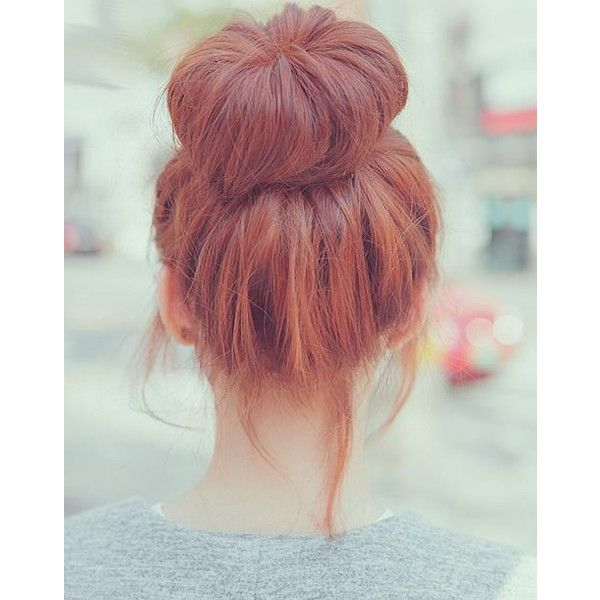big bun Hairstyles and Beauty Tips ❤ liked on Polyvore featuring beauty products, haircare, hair styling tools, hair, hairstyles, buns, cabelo and people