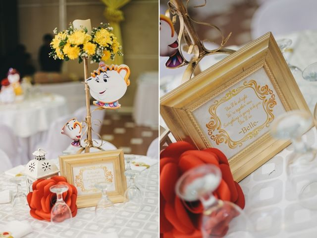 Bella's Princess Belle Themed Party – Table Centerpieces