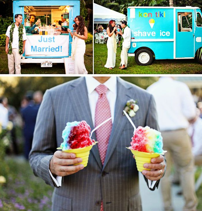 shave ice cart for your guests to enjoy--this will be at my wedding for sure.