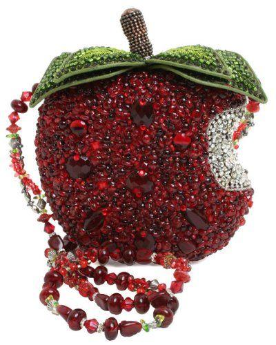 Mary Frances First Bite Apple Red Convertible Clutch Handbag - http://handbagscouture.net/brands/mary-frances/mary-frances-first-bite-apple-red-convertible-clutch-handbag/