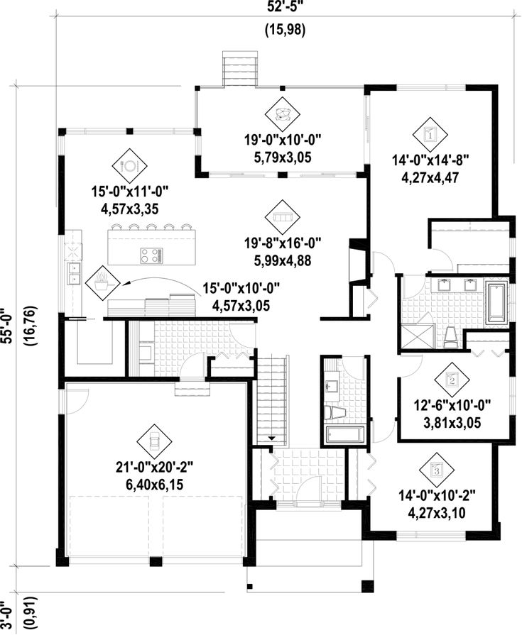 162 best house plans 1800 2200 sq ft images on pinterest for 2200 sq ft house plans