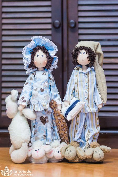 Dani & Duda de pijama (projeto) - Casinha de Bonecas