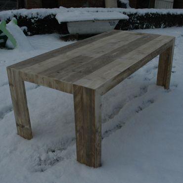 Tafel in oud steigerhout | rawcreations bvba