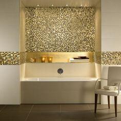 25+ Best Ideas About Badezimmer Mosaik On Pinterest | Bad Mosaik ... Badezimmer Gold Mosaik