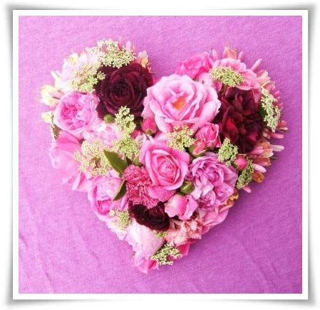 hjärta blommor, heart flowers, alla hjärtans dag, valentine's day