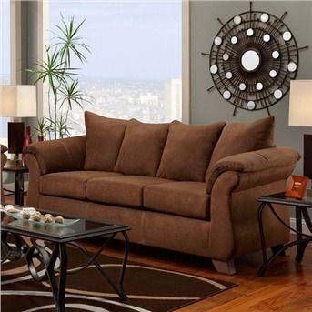 Aruba Chocolate Brown Microfiber Sofa