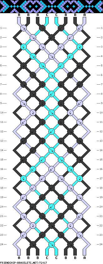 72017 , friendship,bracelets.net 8 fils , 3 couleurs
