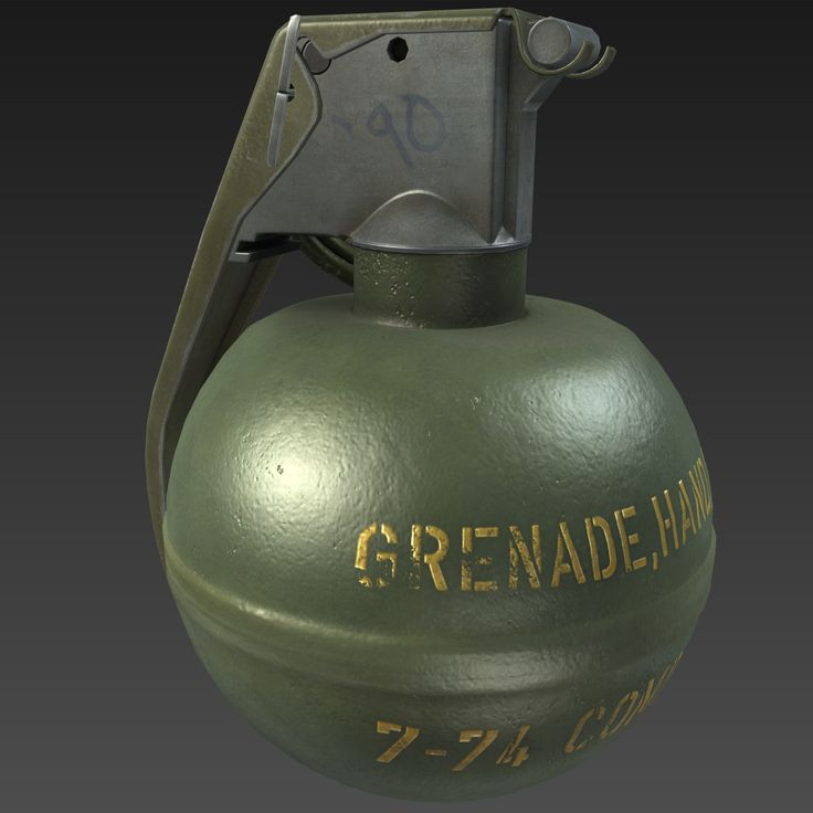 3D M67 Grenade - 3D Model