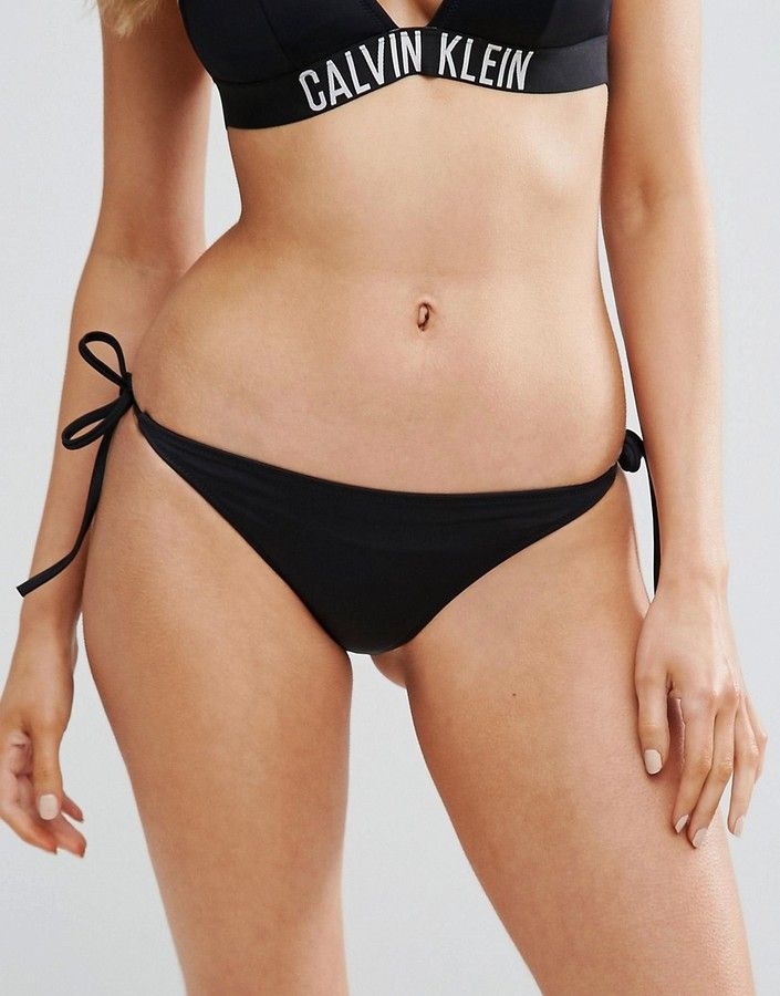 Calvin Klein Cheeky String Tie Side Bikini Bottom