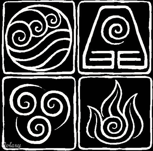 Yes These Are The Symbols For The 4 Elements From Avatar The Last