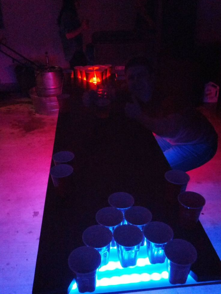 Simple LED beer pong table build - Imgur