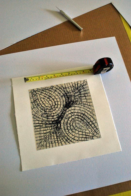 Cutting your own mat for picture framing